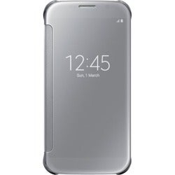 Samsung S-View Carrying Case (Flip) for Smartphone - Clear Silver