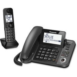 Panasonic KX-TGF380M Bluetooth Cordless Phone - Silver, Black