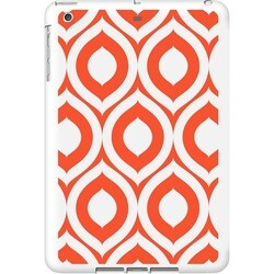 OTM iPad Air White Glossy Case Elm Bold Collection, Orange