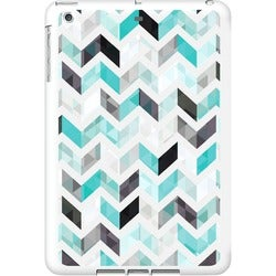 OTM iPad Air White Glossy Case Ziggy Collection, Aqua