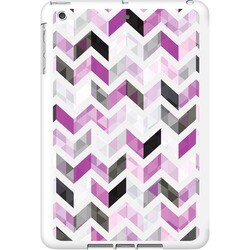 OTM iPad Air White Glossy Case Ziggy Collection, Purple