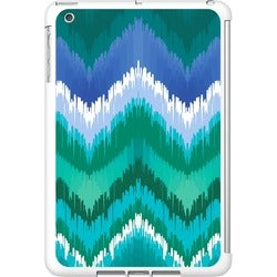 OTM iPad Mini White Glossy Case Bold Collection, Teal/Blue