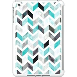 OTM iPad Mini White Glossy Case Ziggy Collection, Aqua