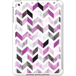 OTM iPad Mini White Glossy Case Ziggy Collection, Purple