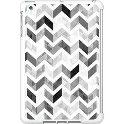 OTM iPad Mini White Glossy Case Ziggy Collection, Grey