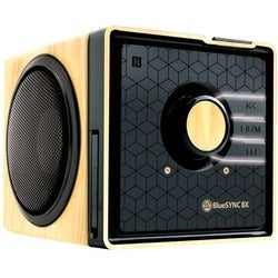 Bluetooth Speaker with Microphone , AUX , Rechargeable Battery , NFC & LED Lights by GOgroove
