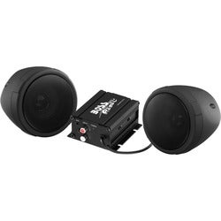 BOSS AUDIO MCBK400 Black 600 watt Motorcycle/ATV Sound System with On