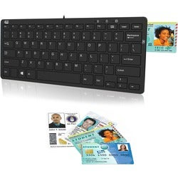 Adesso SlimTouch 510R Mini Keyboard with Smart Card Reader and USB Hu