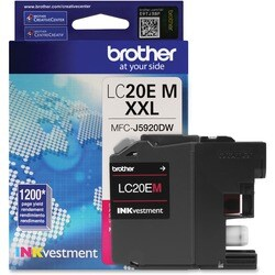 Brother Genuine LC20EM INKvestment Super High Yield Magenta Ink Cartr