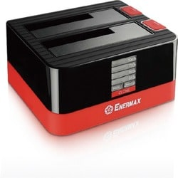 Enermax ULTRABOX EB311SC Drive Dock External - Black, Red