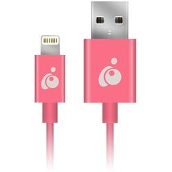 IOGEAR Charge & Sync Flip 3.3ft (1m) - Pink, Reversible USB to Lightn
