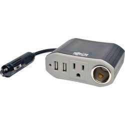 Tripp Lite Ultra-Compact Car Inverter 100W 12V CLA 120V 2 USB Chargin