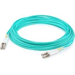 AddOn 1m HP AJ834A Compatible LC (Male) to LC (Male) Aqua OM3 Duplex