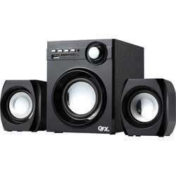 QFX BT-203 2.1 Speaker System - 10 W RMS - Bookshelf - Wireless Speak
