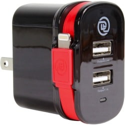 Digital Treasures ChargeIt! Dual Output Wall Charger with MFI Lightni