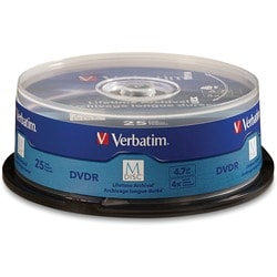 M-Disc DVDR 4.7GB 4X with Branded Surface - 25pk Spindle - TAA Compli