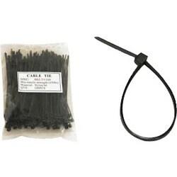 Unirise 8in Nylon Cable Tie 50lbs Black 100pk