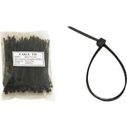 Unirise 6in Nylon Cable Tie 40lbs Black 100pk