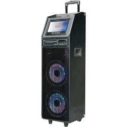 QFX Speaker System - 10000 W RMS - Portable - Battery Rechargeable -