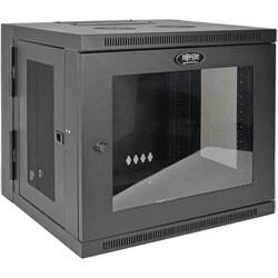 Tripp Lite 10U Wall Mount Rack Enclosure Server Cabinet w/Swinging Do