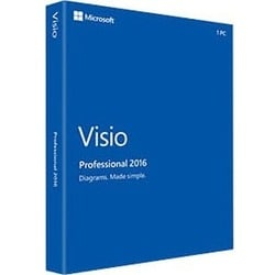 Microsoft Visio 2016 Professional - Box Pack - 1 PC