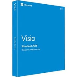 Microsoft Visio 2016 Standard - Box Pack - 1 PC