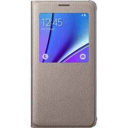 Samsung S-View Carrying Case (Flip) for Smartphone - Gold