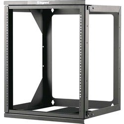 C2G 12U Hinged Wall Mount Open Frame Rack - 18in Deep