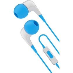 Cygnett 2XS Wired Headphones With Built-in-mic - Blue & White