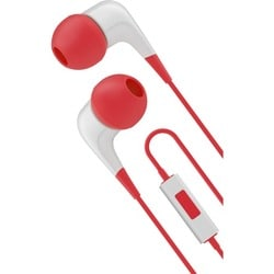 Cygnett 2XS Wired Headphones With Built-in-mic - Red & White