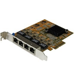 StarTech.com 4-Port PCI Express Gigabit Network Adapter Card - Quad-P