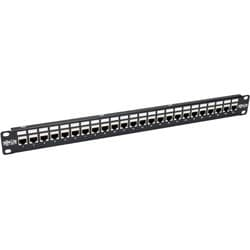 Tripp Lite 24-Port Cat6a Patch Panel Shielded Feedthrough Rackmount R