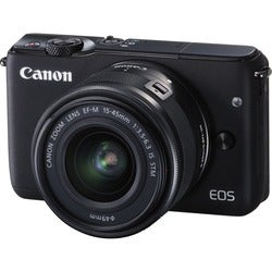 Canon EOS M10 18 Megapixel Mirrorless Camera with Lens - 15 mm - 45 m