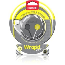 Maxell Wrap'd Earbud with MIC & Storage Case