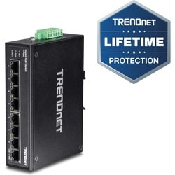 TRENDnet 8-Port Hardened Industrial Gigabit PoE+ DIN-Rail Switch