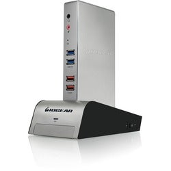 IOGEAR met(AL) Vault Dock, USB 3.0 Docking Station with built-in Back