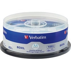 Verbatim Blu-ray Recordable Media - BD-R XL - 4x - 100 GB - 25 Pack S