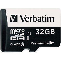 Verbatim 32GB PremiumPlus 533X microSDHC Memory Card with Adapter, UH