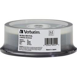 Verbatim Blu-ray Recordable Media - BD-R DL - 6x - 50 GB - 25 Pack Sp