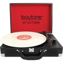 boytone Mobile Briefcase Turntable BT-101TBBK