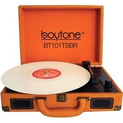 boytone Mobile Briefcase Turntable BT-101TBBR