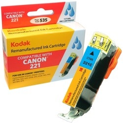 KODAK Remanufactured Ink Cartridge Compatible With Canon 221 / 221C (