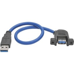 Tripp Lite 1ft USB 3.0 Superspeed Panel Mount Type-A Extension Cable