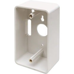 Intellinet Wall Box Single Gang, 1.89 Inches Deep, Ivory