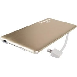 Naztech PB3200 MFi Slim Power Bank with Lightning Cable - Gold