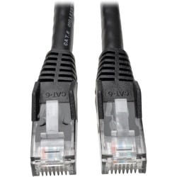 Tripp Lite 3ft Cat6 Gigabit Snagless Molded Patch Cable RJ45 M/M Blac