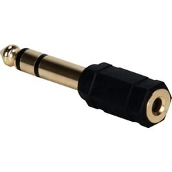 QVS 3.5mm Female to 1/4 Male Audio Stereo Adaptor