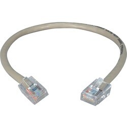 QVS 1.5ft 350MHz CAT5e Flexible Gray Patch Cord