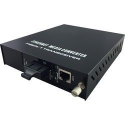 LevelOne RJ45 to SC Managed Fast Ethernet Media Converter, Single-Mod