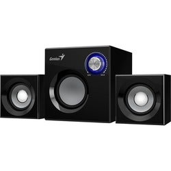 Genius SW-2.1 370 2.1 Speaker System - 6 W RMS - Black